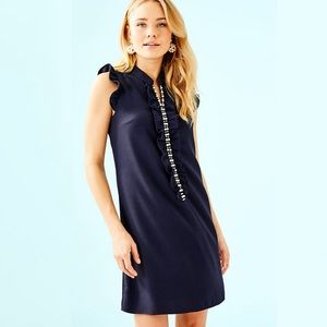 NEW Lilly Pulitzer Adalee Navy pearl shift dress